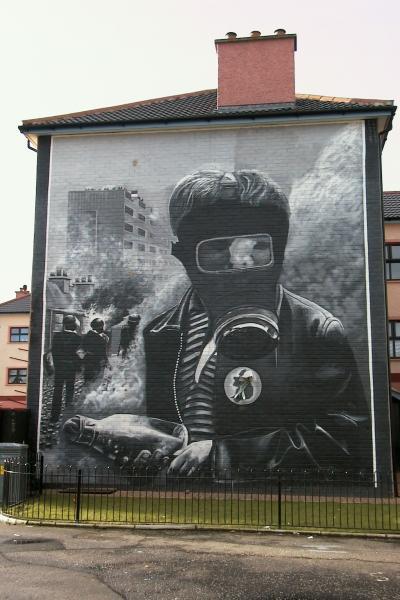 Irish republican history remembrance for Siege mural rabattable