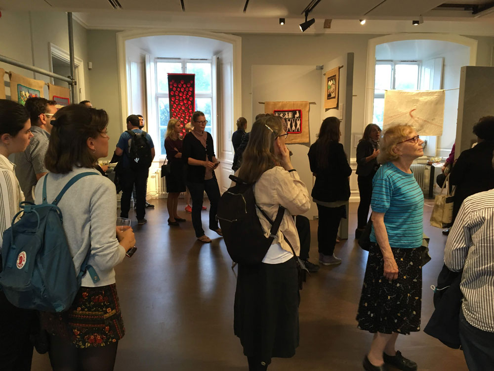 A selection of attendees at the exhibition launch, 29th August 2018. (Photo: Jim Porter, Hugo Valentin Centre, Uppsala University)
