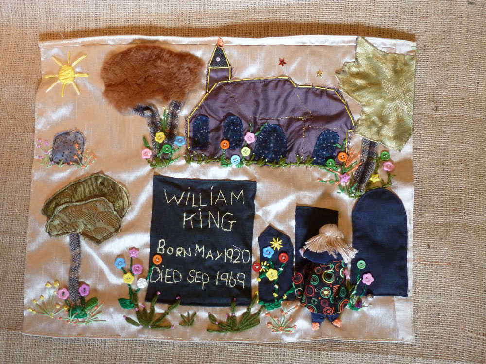 'William King, RIP', by Gwendoline King. (Photo: Deborah Stockdale)