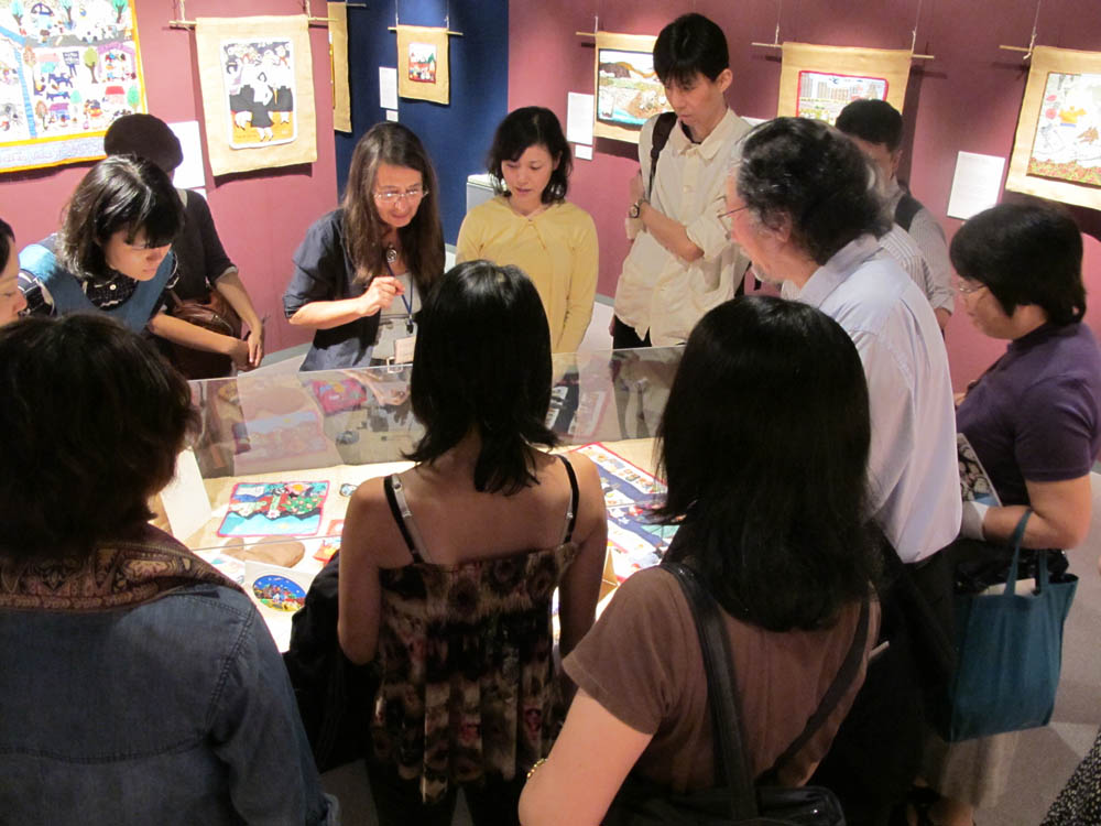 People attending the exhibition and associated events. (Photo: Watanabe)