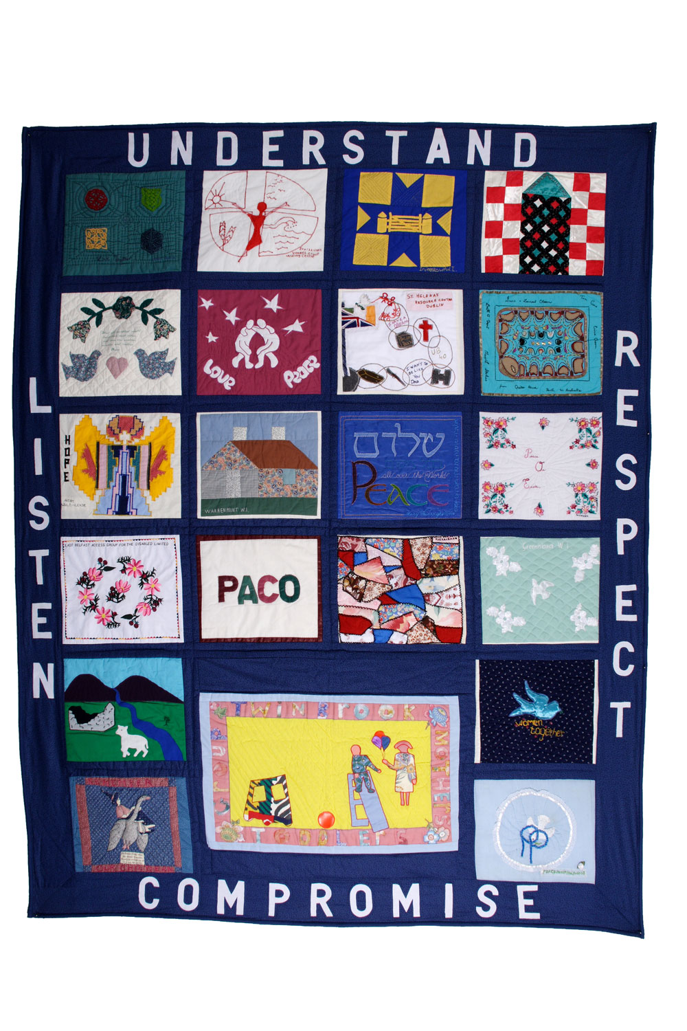 'Northern Ireland Reconciliation Quilt', by Women Together, Belfast. (Photo: Colin Peck)