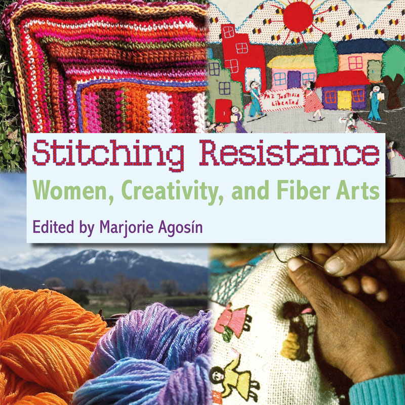 Launch of 'Stitching Resistance: Women, Creativity and Fibre Arts', edited by Marjorie Agosín, at the Seminar: 'Conversations about Textile Narratives of Conflict, Testimony and Resistance'. (Cover image photos: Martin Melaugh)