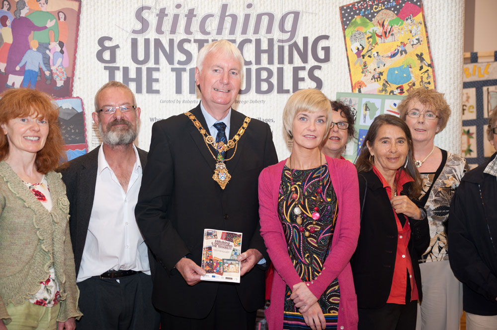 Launch of exhibition: 'Stitching and Unstitching The Troubles - phase 1', Coleraine, Sept. 2012