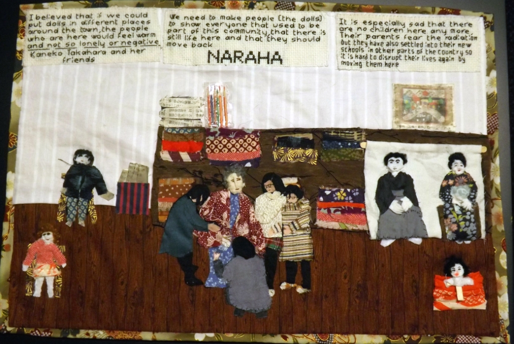 'Women in Naraha making life-sized Kakashi-dolls', by Linda Adams. (Photo: Rob Fairmichael)