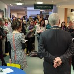 Photograph of exhibition launch event