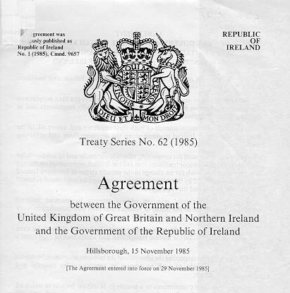 Cain Events Anglo Irish Agreement Document