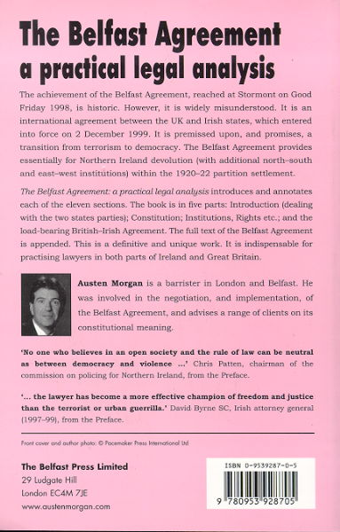 Cain Events Peace Morgan Austen 2000 The Belfast Agreement A