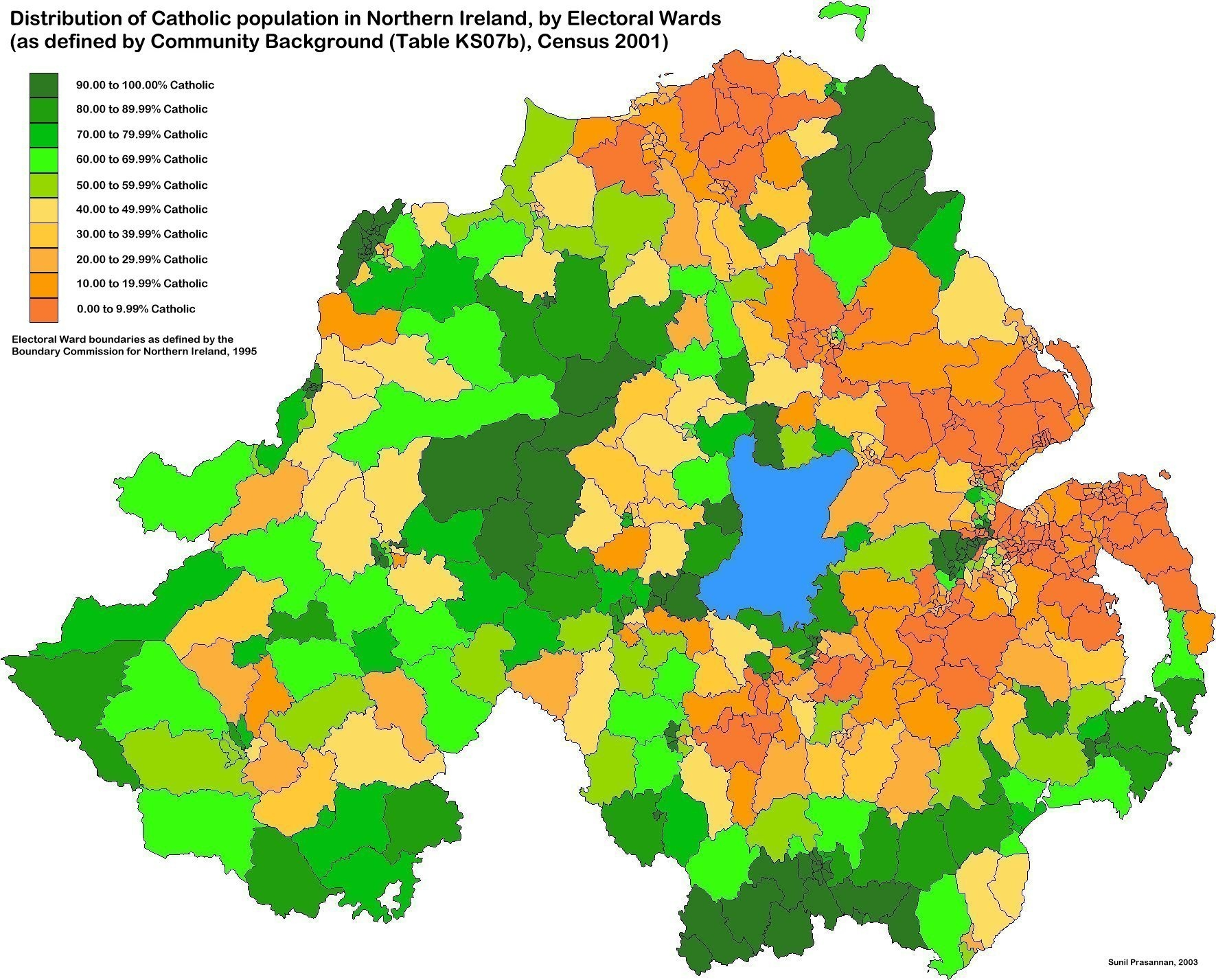 Simple Map Of Ireland.Cain Maps Distribution Of Catholics At Ward Level Maps For