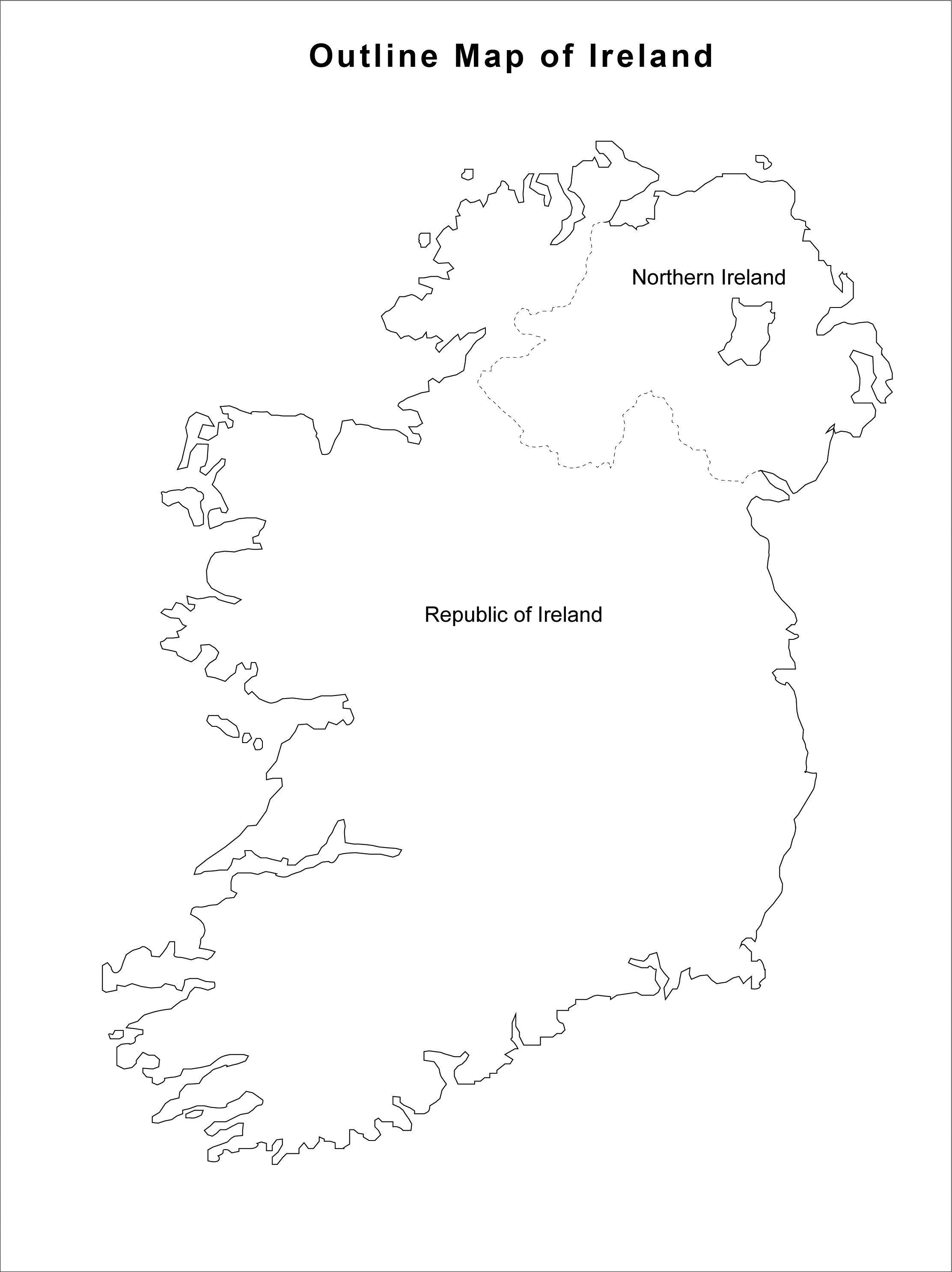 cain maps outline map of ireland northern ireland and republic