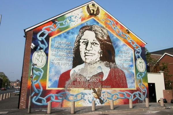 Cain photograph belfast falls road fallsmural1 for Bobby sands mural belfast