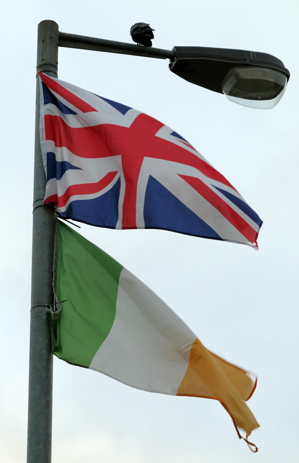 Two flags, Coleraine, Northern Ireland