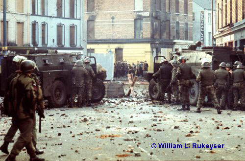 photograph copyright of William L. Rukeyser - photograph is one of a series taken on Bloody Sunday in Derry 30 January 1972