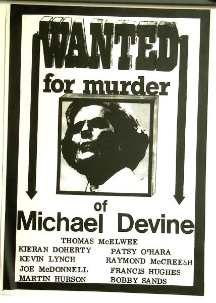 CAIN Posters Examples of Hunger Strike and Prisoners Campaign – Wanted Poster Examples