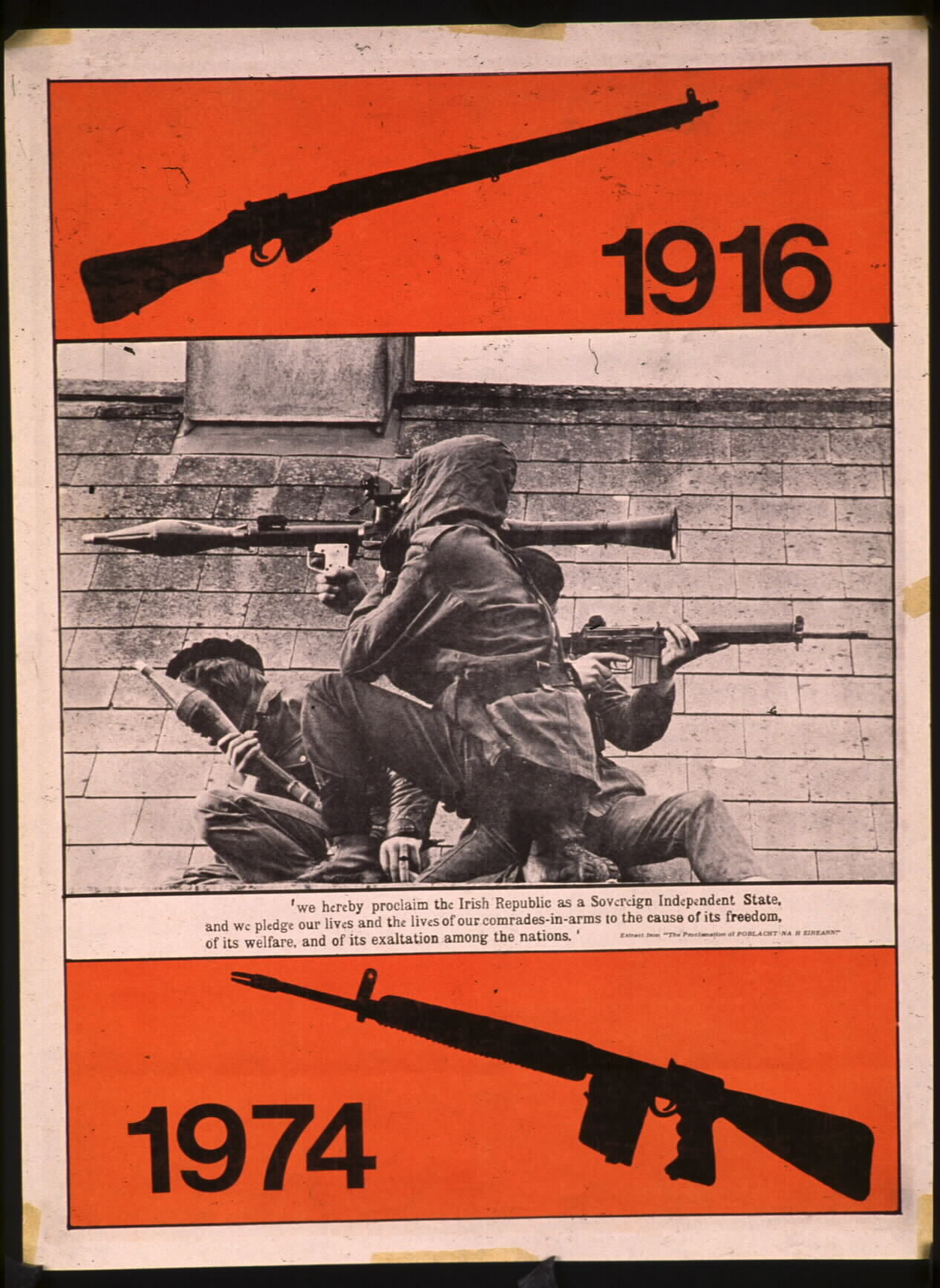 Irish Republican Army Posters The poster shows three ira
