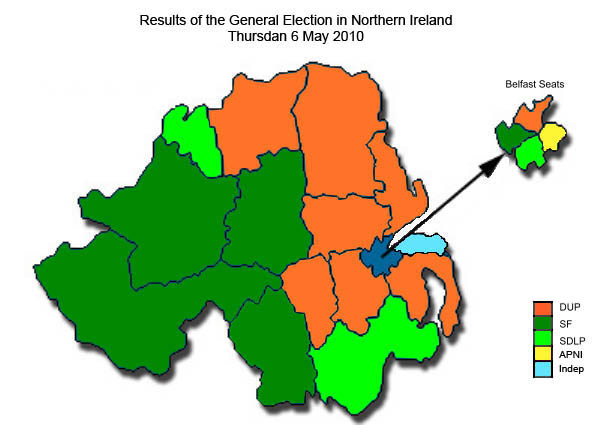 CAIN: Politics: Elections: Westminster General Election (NI