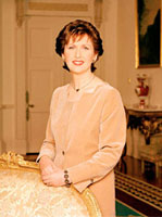 Official photograph of President Mary McAleese