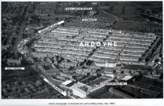 Aerial photograph of Ardoyne
