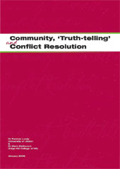 front cover - Community, Truth-telling and Conflict Resolution