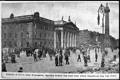 photograph of the scene at the GPO Dublin