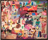 photograph of international quilt / wall hanging
