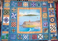 photograph of irish quilt