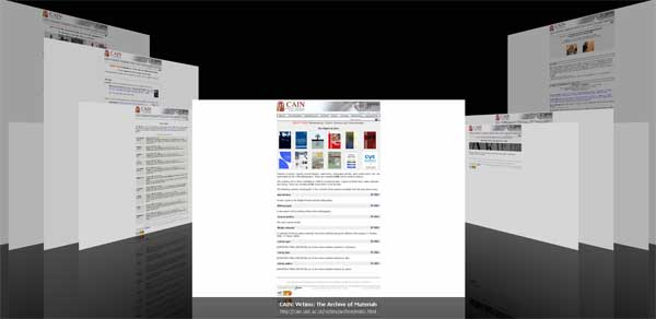 combined image of archive web pages left to right