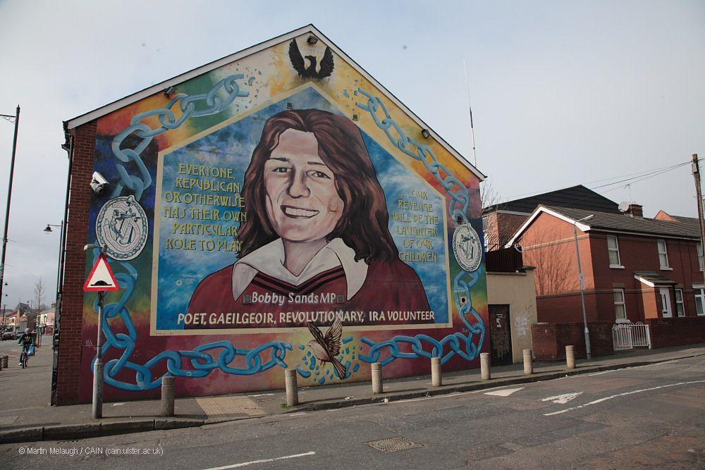 Cain victims memorials bobby sands mural sevastopol for Bobby sands mural falls road