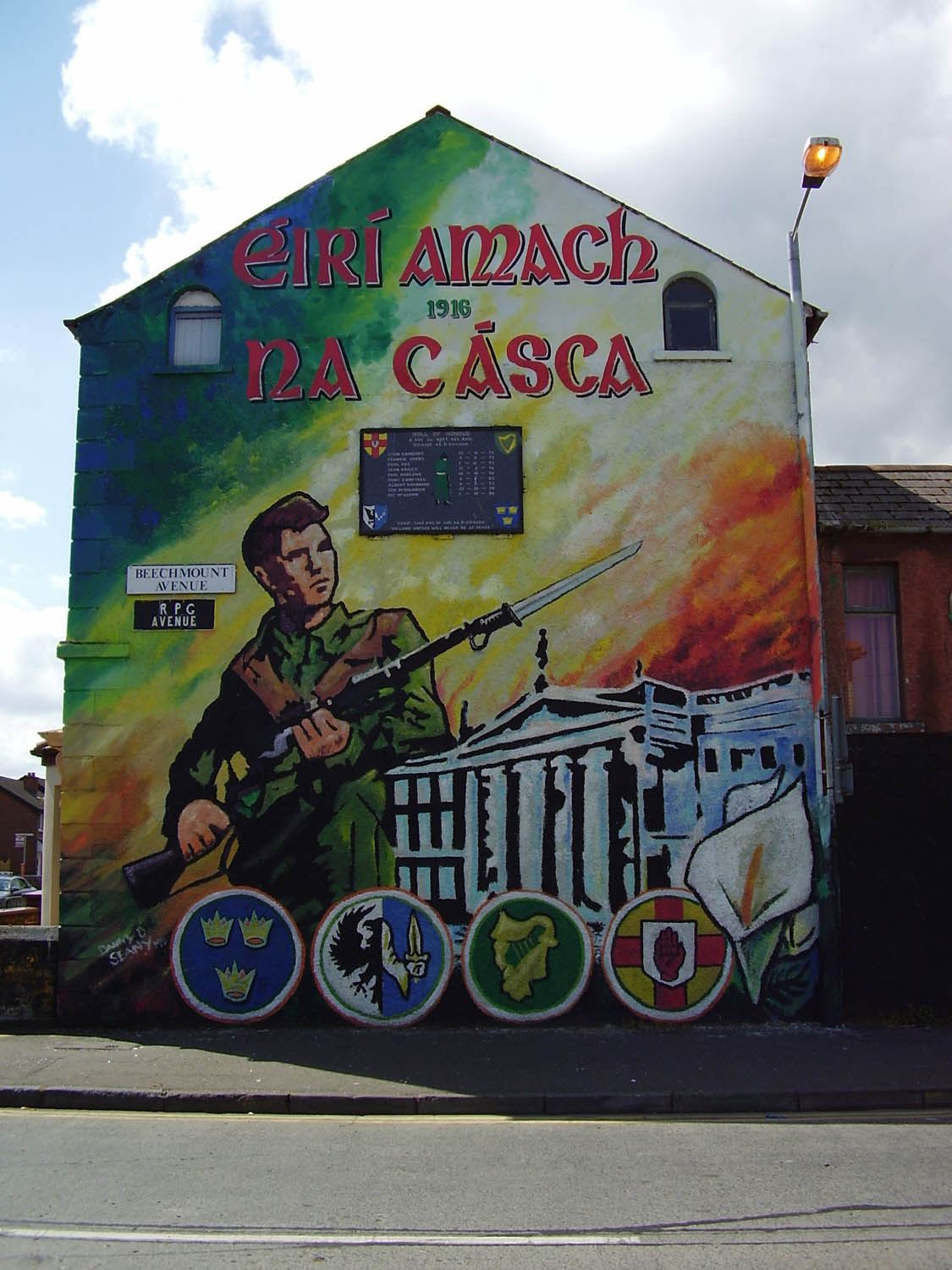 Index of viggiani images murals belfast republicans for Easter rising mural